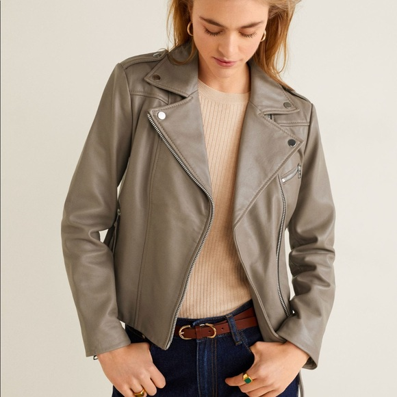 outlet boutique arriving variety of designs and colors Mango leather biker jacket